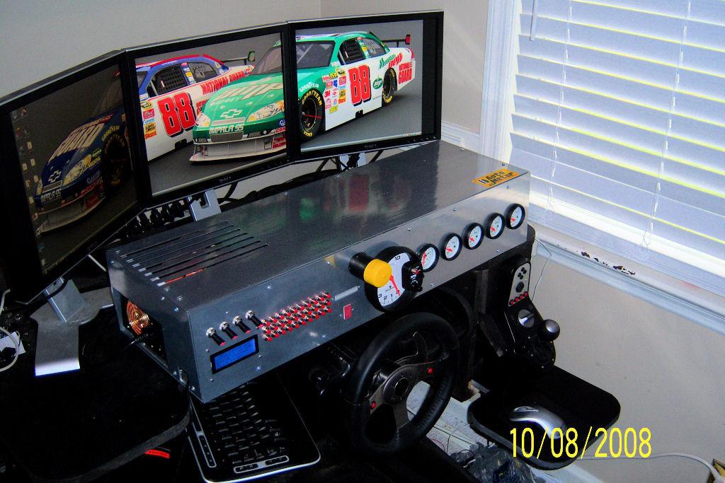 Nascar Style Sim Racing Dashboard Virtualr Net Sim