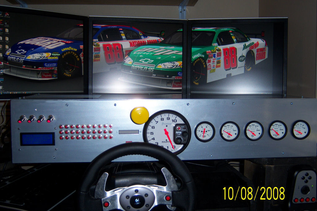 nascar style sim racing dashboard sim. Black Bedroom Furniture Sets. Home Design Ideas