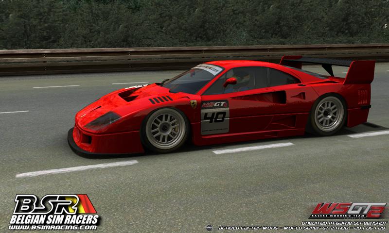 Ferrari F40 Gte. Ferrari F40 GTE on track.