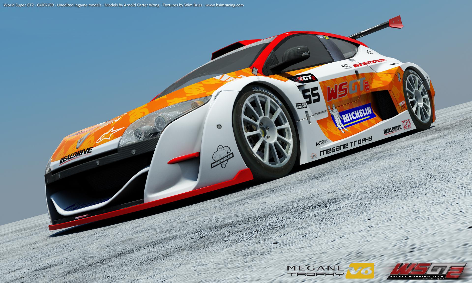 world super gt 2 megane trophy car renders sim racing news. Black Bedroom Furniture Sets. Home Design Ideas