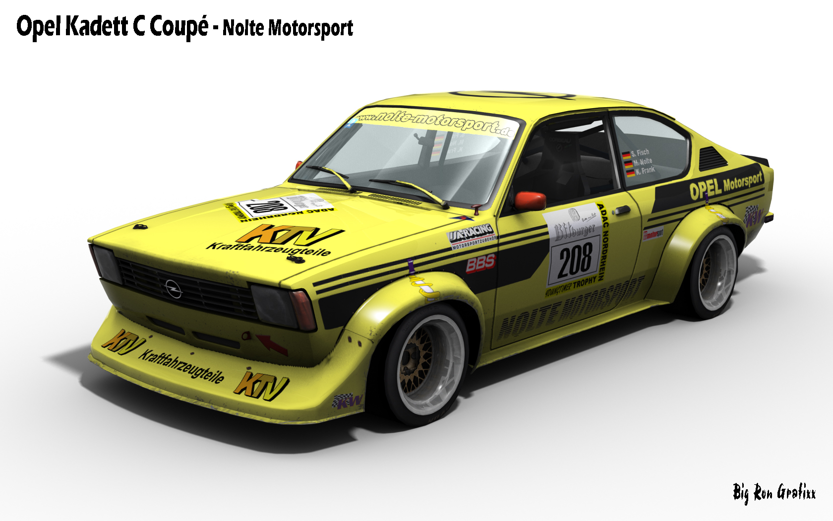 opel kadett c coupe three new renders. Black Bedroom Furniture Sets. Home Design Ideas