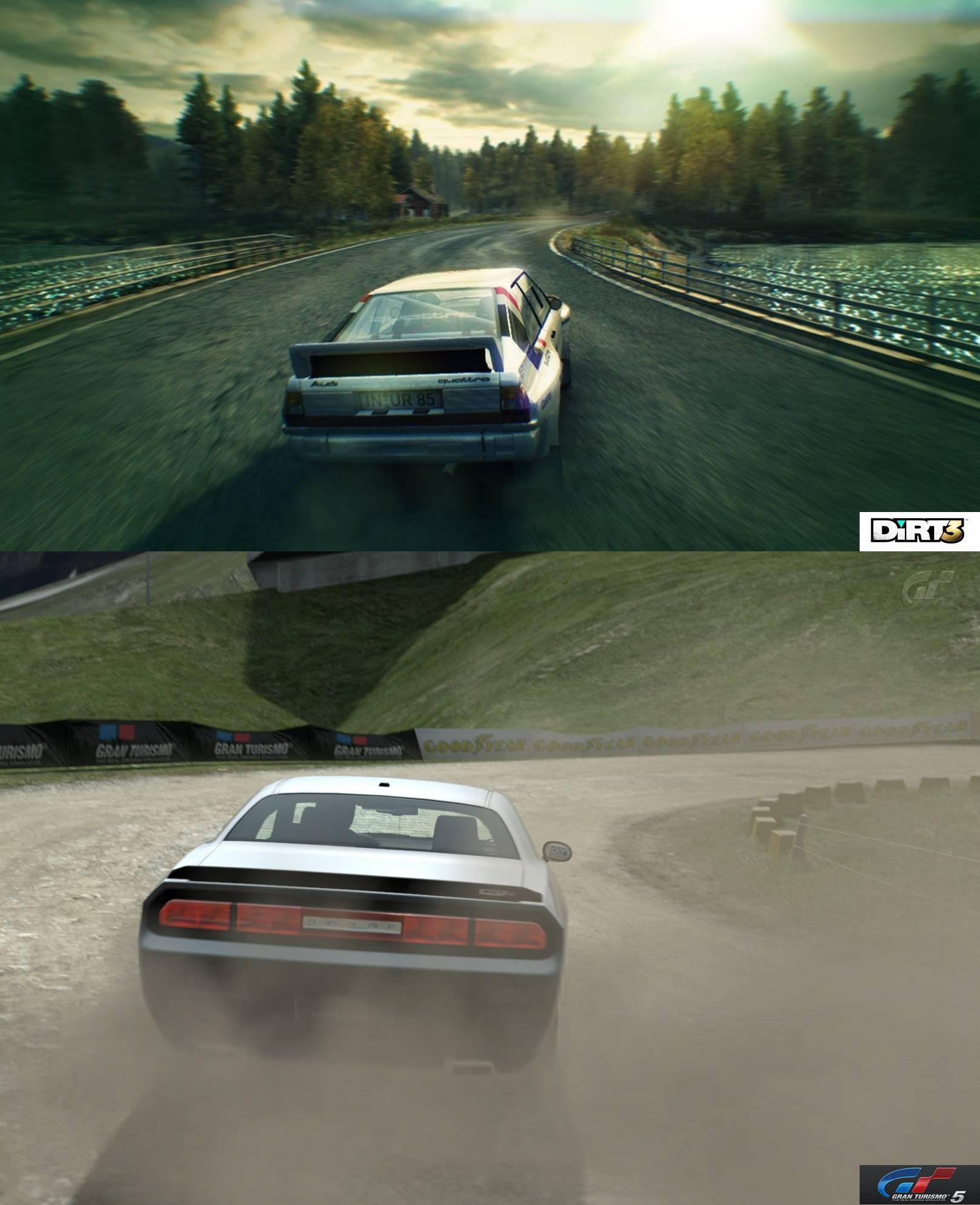 Dirt 3 Gran Turismo 5 Comparison Shots Virtualr Net