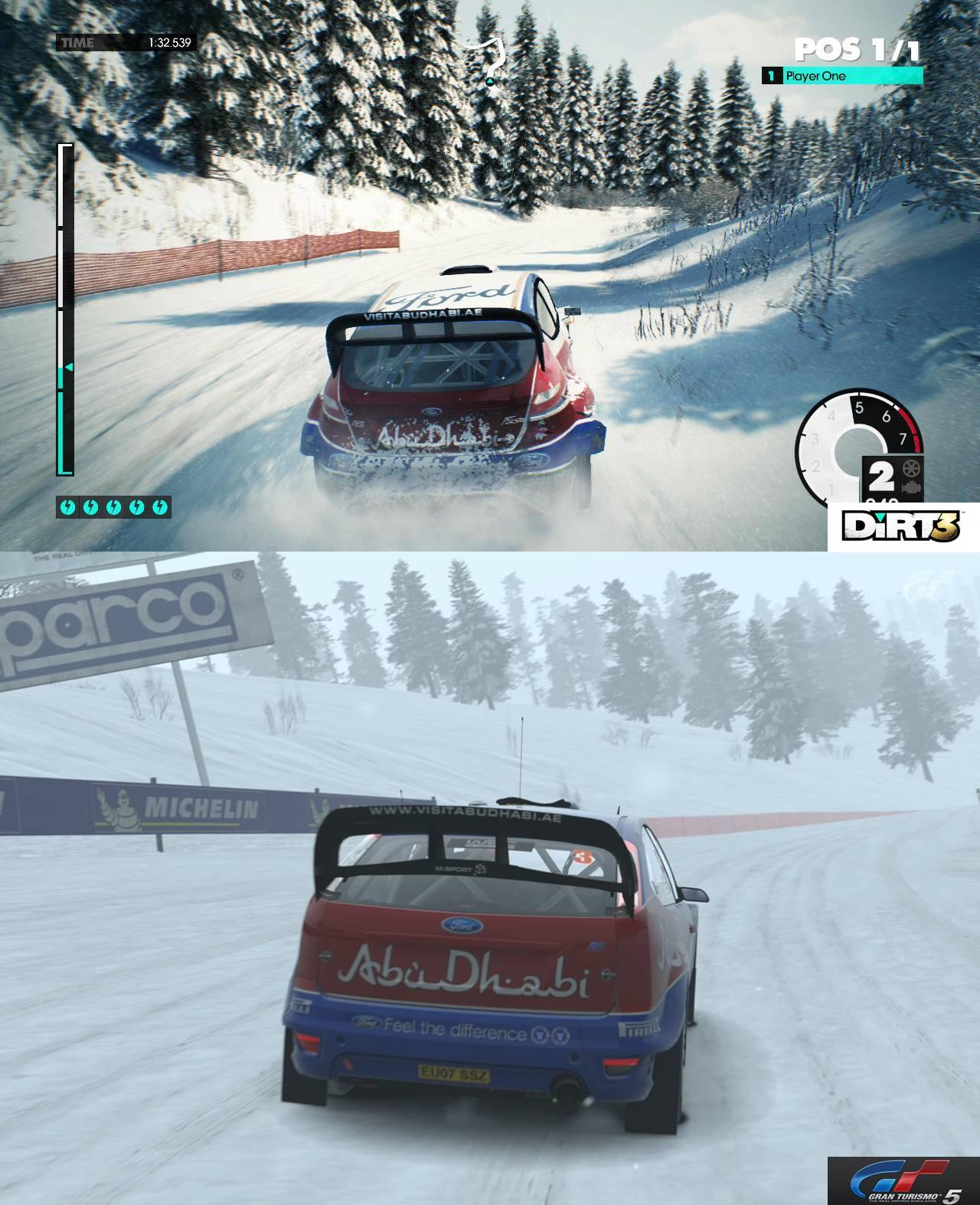Dirt 3 Gran Turismo 5 Comparison Shots Virtualr Net