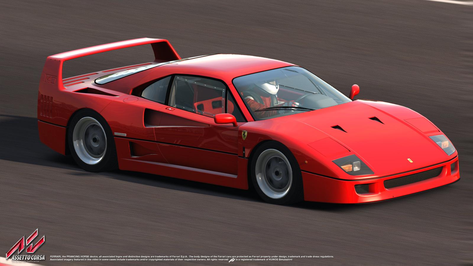 Assetto Corsa New Ferrari F40 Previews Virtualr Net
