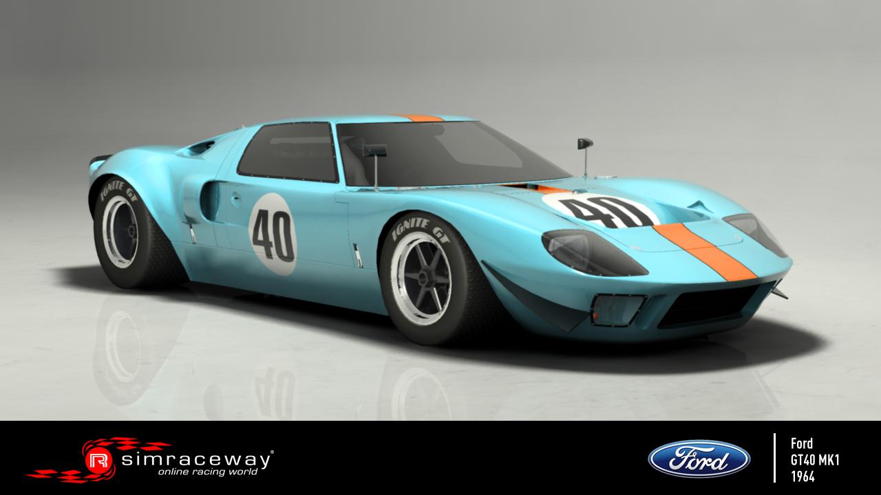 SimRaceWay – Ford GT40 MK1 Available – VirtualR net – 100