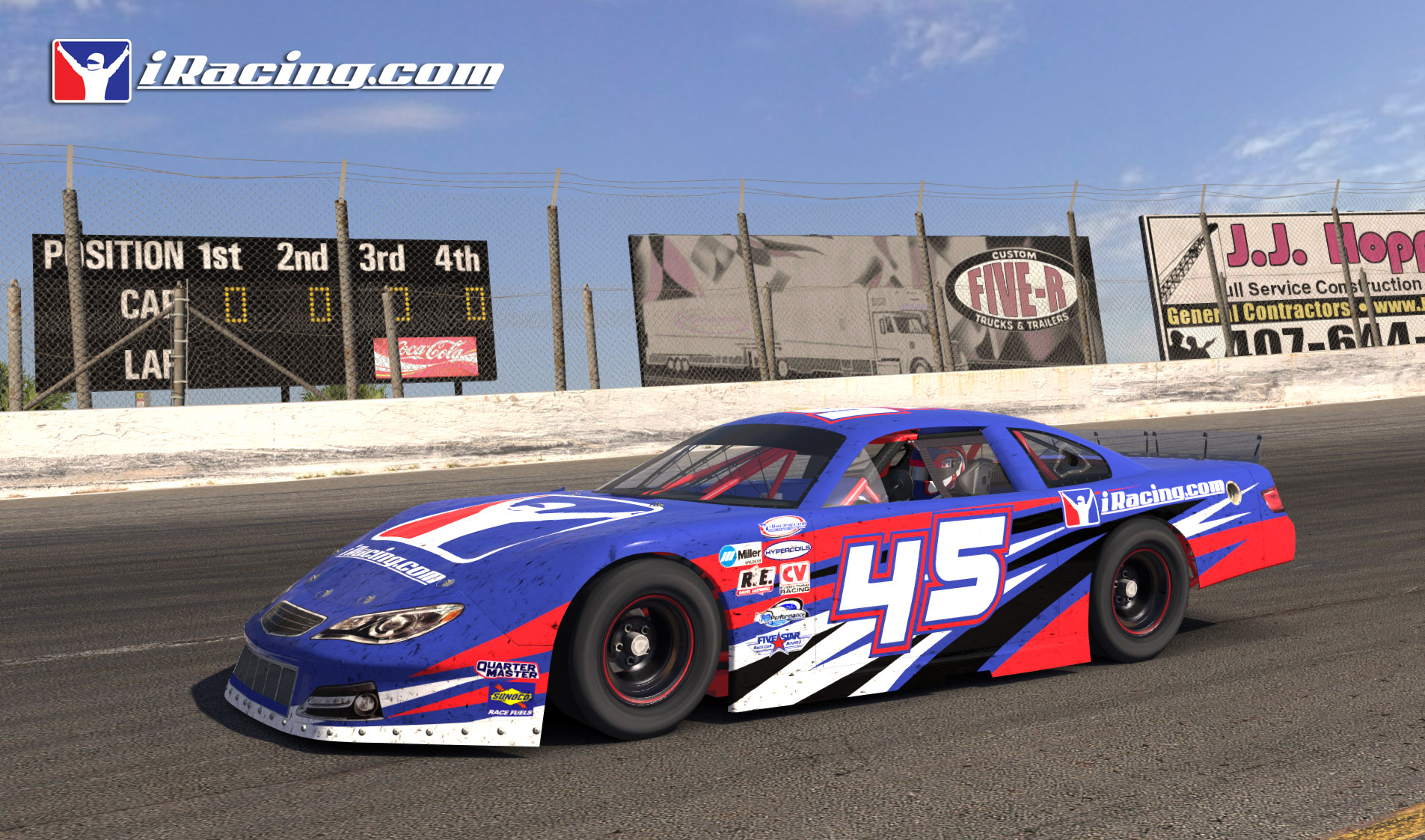 New late model previews sim for Dirt track race car paint schemes