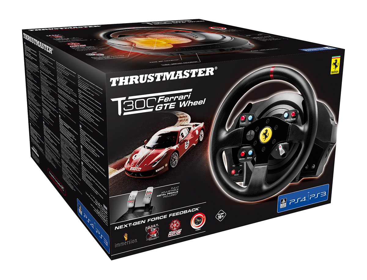 thrustmaster t300 rs ferrari gte wheel revealed. Black Bedroom Furniture Sets. Home Design Ideas