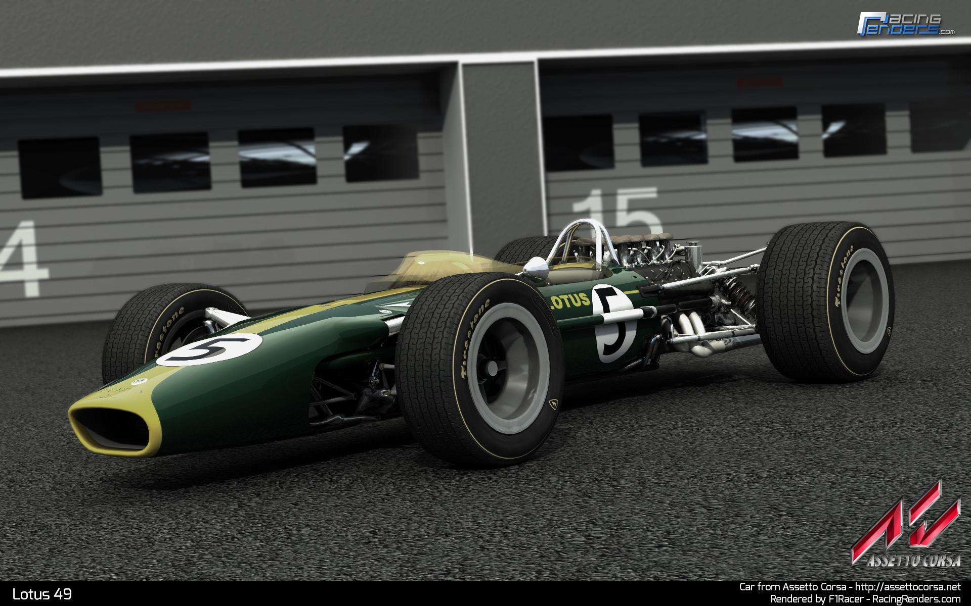 assetto corsa lotus 49 renders sim racing news. Black Bedroom Furniture Sets. Home Design Ideas