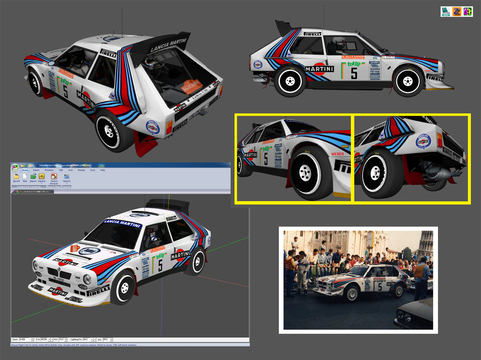Lancia Delta S4 WRC for Assetto Corsa – Previews – VirtualR