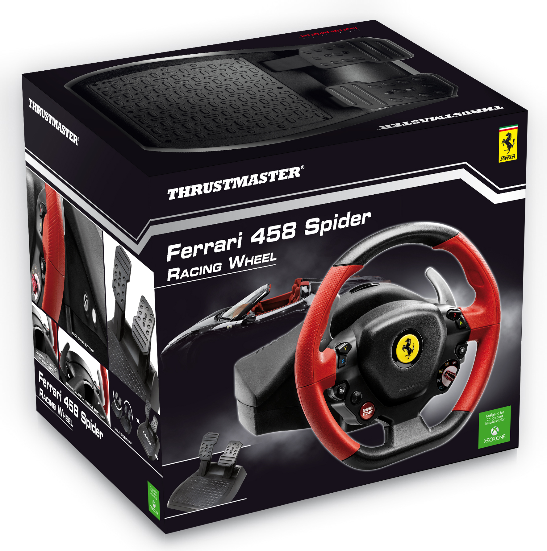 thrustmaster ferrari 458 spider wheel unveiled virtualr. Black Bedroom Furniture Sets. Home Design Ideas