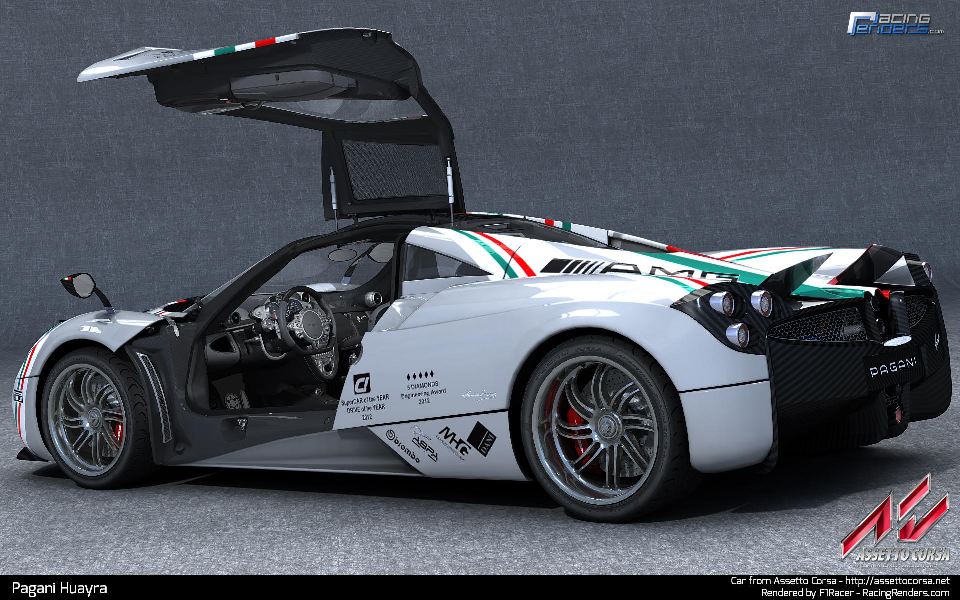 etto Corsa – Pagani Huayra Renders – VirtualR.net – Sim Racing