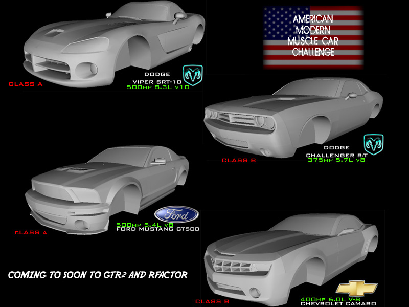 American Modern Muscle Cars – Preview – VirtualR.net – Sim Racing News