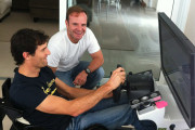 Rubens Barrichello Shows Off His Sim Setup