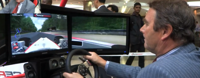Nigel Mansell Tries Sim Racing – Video