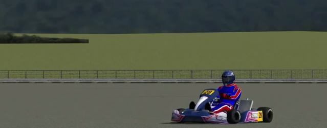 Kart Racing in rFactor – Slow-Motion Video