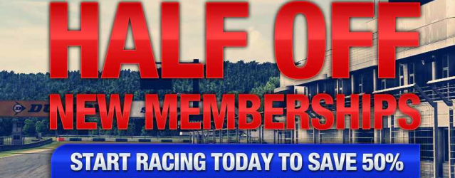 iRacing.com &#8211; 50% Discount For New Members