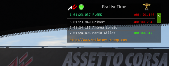 Assetto Corsa – RSR Live Timing Plugin Released