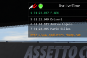 Assetto Corsa  RSR Live Timing Plugin 0.9.9 Released