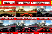 F1 2013 – Ferrari Historic Comparison