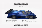 GTPC by Virtua_LM Junior Team – New Car Info Sheets