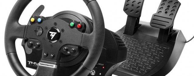 thrustmaster tmx force feedback wheel announced. Black Bedroom Furniture Sets. Home Design Ideas