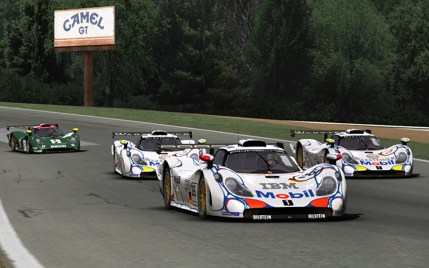 porsche 911 gt1 for rfactor released. Black Bedroom Furniture Sets. Home Design Ideas