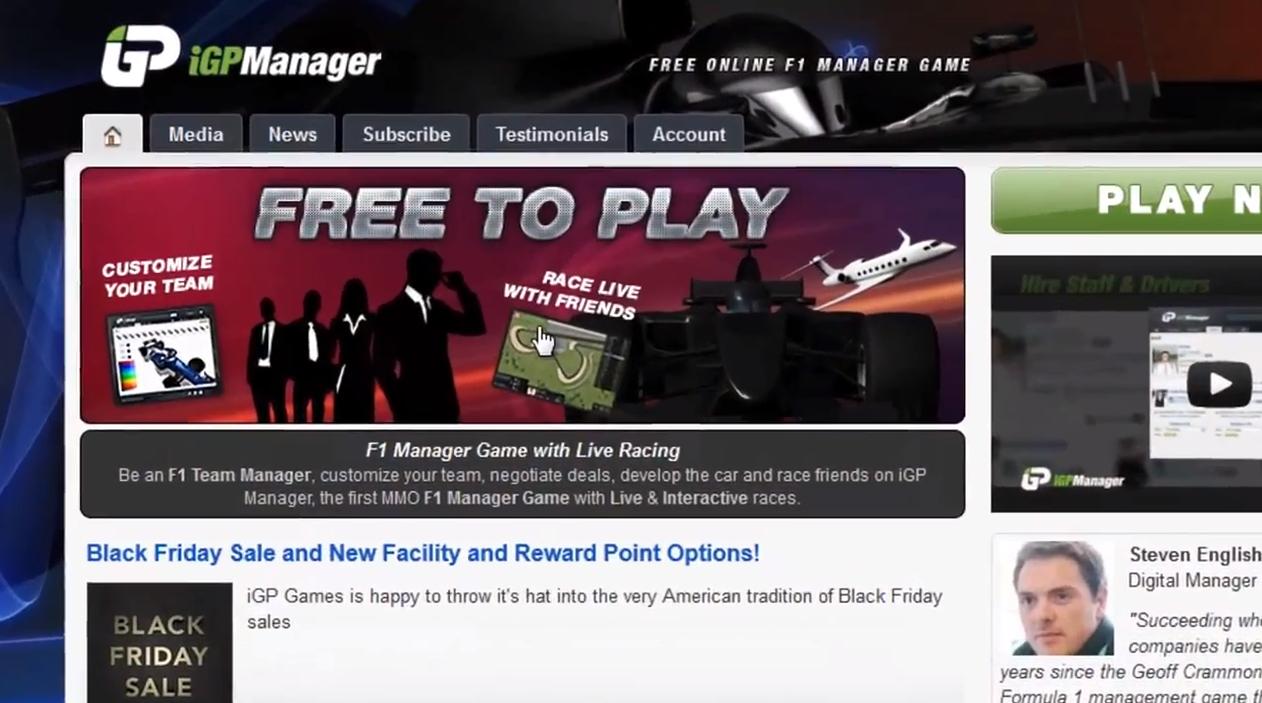 Igp Manager Srt Video Review Virtualr Net Sim Racing
