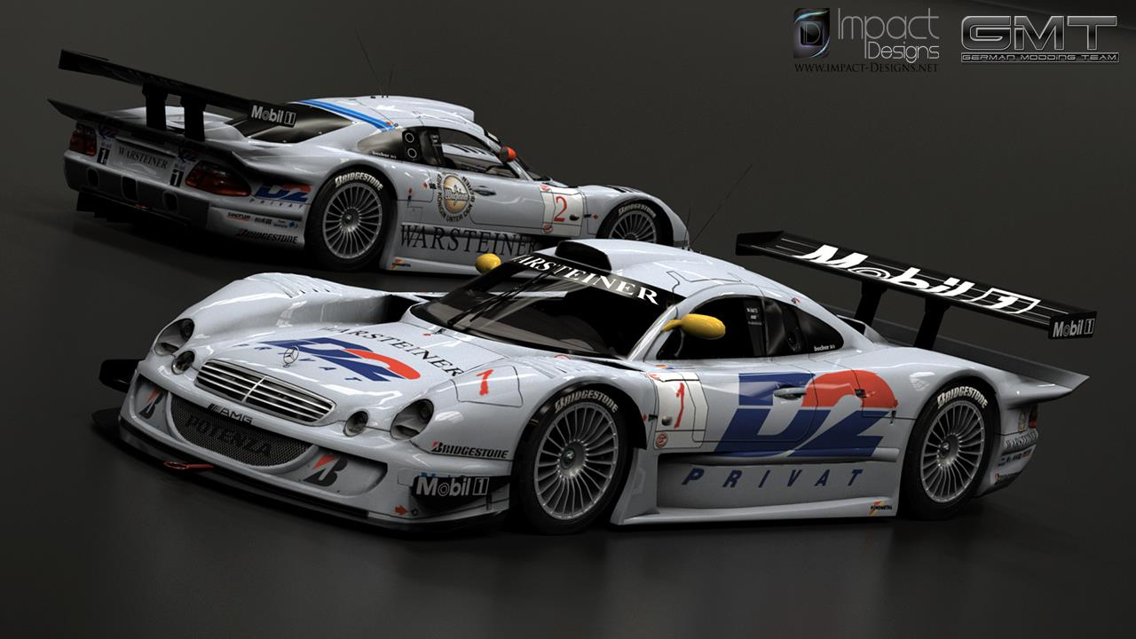 Mercedes benz clk gtr for rfactor 2 released virtualr for Mercedes benz race