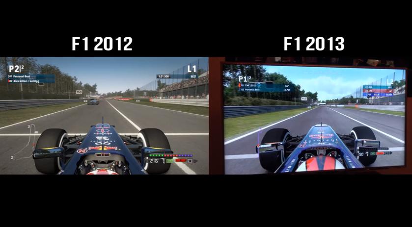 F1 2012 vs  F1 2013 – Handling Comparison Video – VirtualR