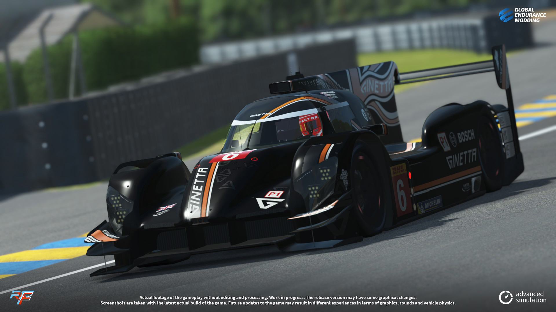 screen-007 Ginetta G60-LT-P1 LMP1 for rFactor 2 – More Previews