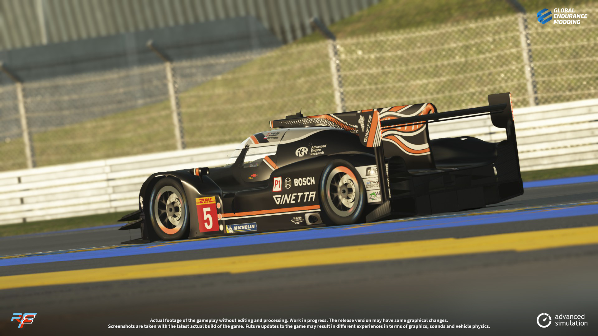 screen-008 Ginetta G60-LT-P1 LMP1 for rFactor 2 – More Previews