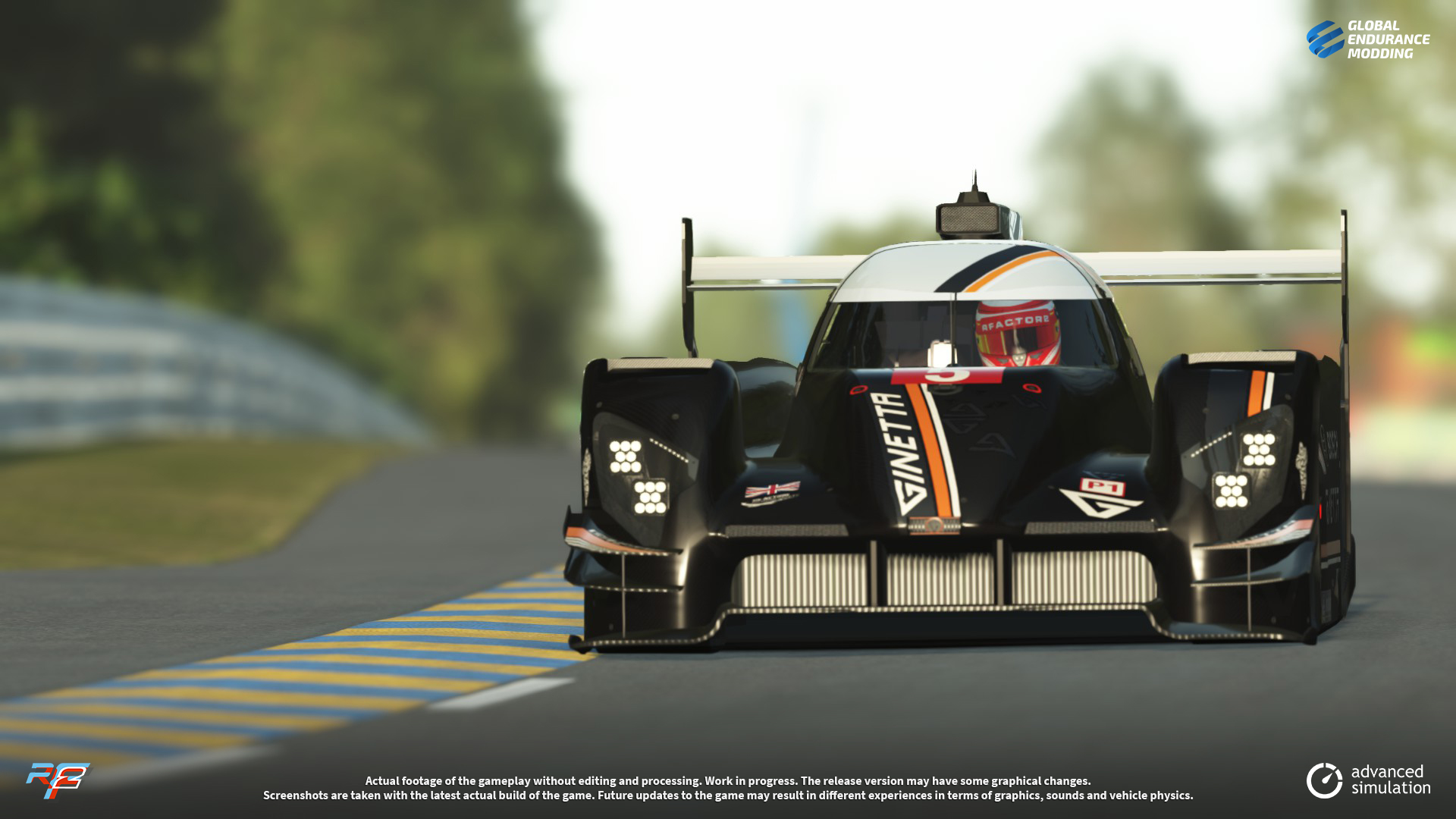 screen-009 Ginetta G60-LT-P1 LMP1 for rFactor 2 – More Previews
