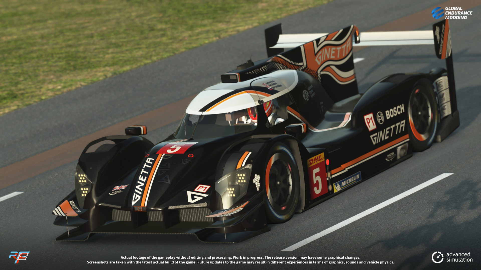 screen-011 Ginetta G60-LT-P1 LMP1 for rFactor 2 – More Previews